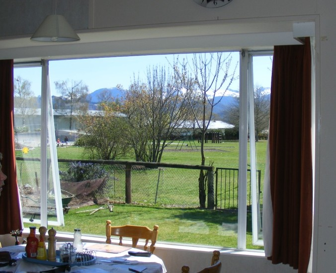 View from dining window